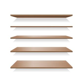 Bruine houten planken met schaduwen