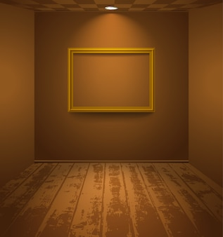Bruine kamer met frame