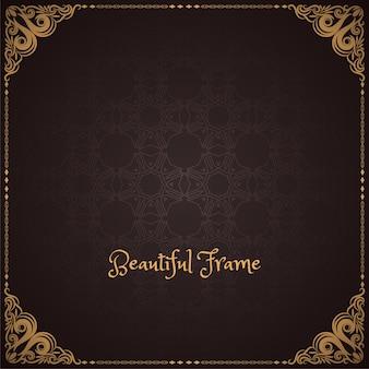 Bruine kleur decoratief frame ontwerp achtergrond