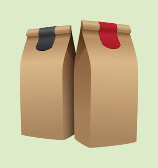 Bruine koffie verpakking