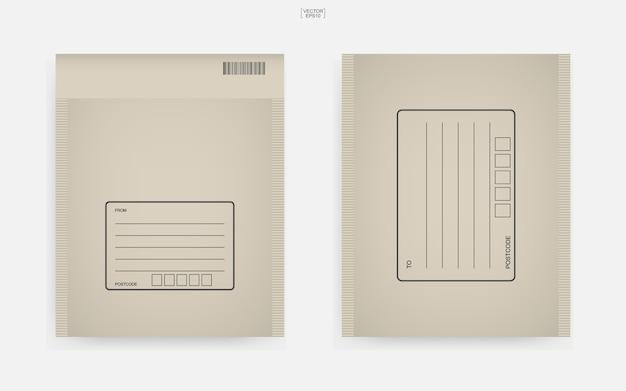 Bruine papieren envelop illustratie