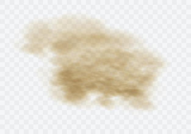 Bruine stoffige wolk