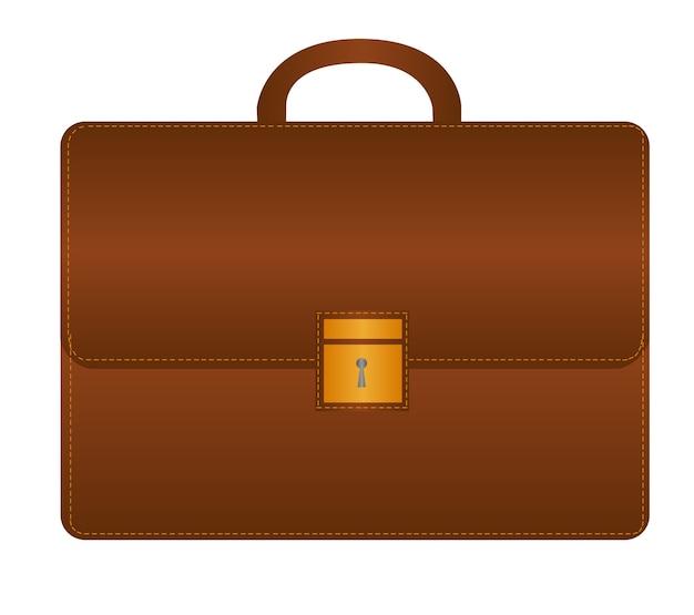 Bruine suitecase geïsoleerd over witte achtergrond vector