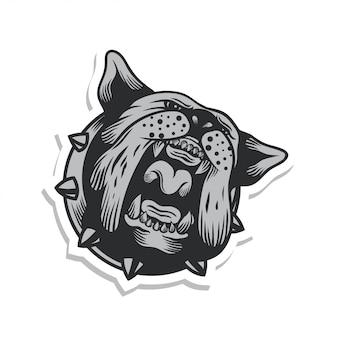 Brullende bulldog sticker