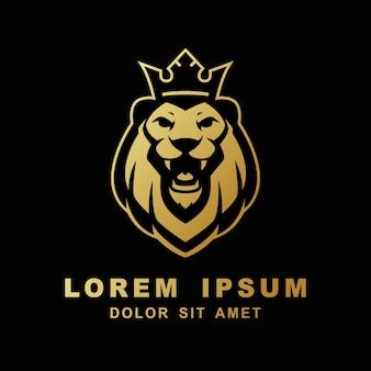 Brullende leeuwenkoning logo illustratie