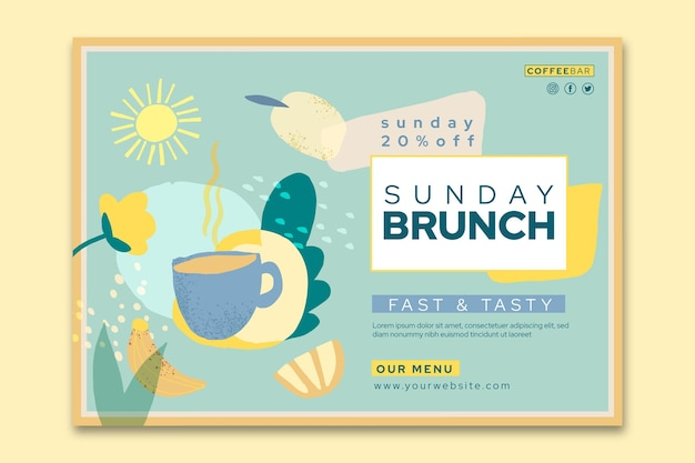 Brunch horizontale banner sjabloon