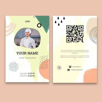 Brunch id-kaartsjabloon