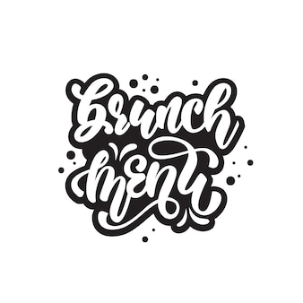 Brunch menu belettering ontwerp