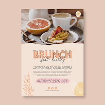 Brunch restaurant flyer-sjabloon