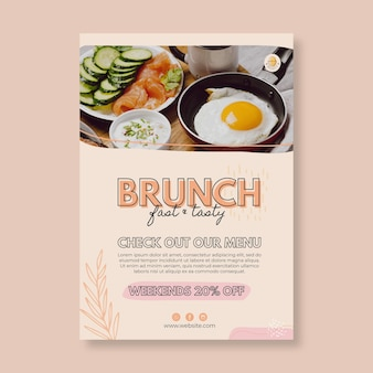 Brunch restaurant poster sjabloon
