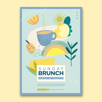 Brunch verticale poster sjabloon