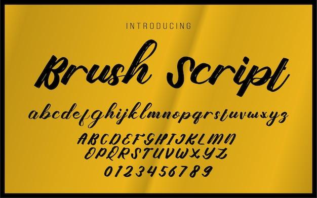 Brush script alfabet handgeschreven lettertype