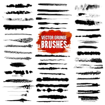 Brush style illustrator set