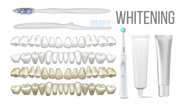Brush whitening clear teeth equipment set