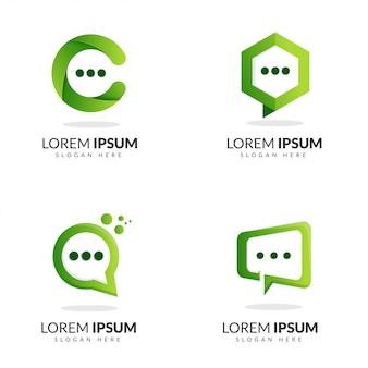 Bubble chat logo groen