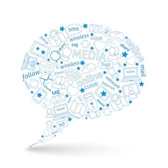 Bubble-pictogram voor sociale media