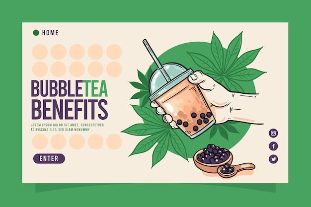 Bubble tea-bestemmingspagina