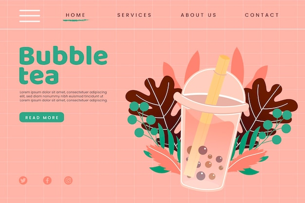 Bubble tea-bestemmingspagina