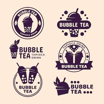 Bubble tea logo collectie