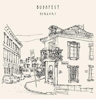 Budapest achtergrond ontwerp