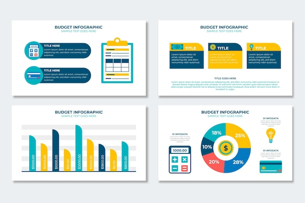 Budget infographic collectie
