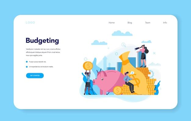 Budgettering concept. idee van financiële planning en investeringen. valutasaldo en inkomen. geld besparen.