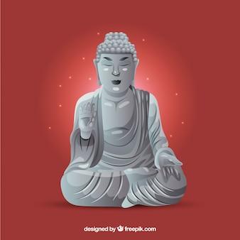 Budha-standbeeld met realistisch ontwerp