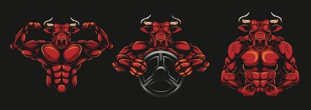 Buffalo bodybuilder illustratie