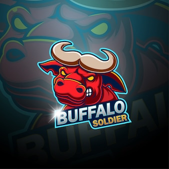Buffalo esport mascotte logo