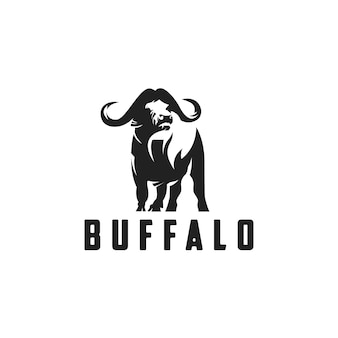 Buffalo logo stijl silhouet
