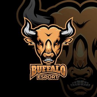 Buffalo mascot logo esport logo team stock afbeeldingen