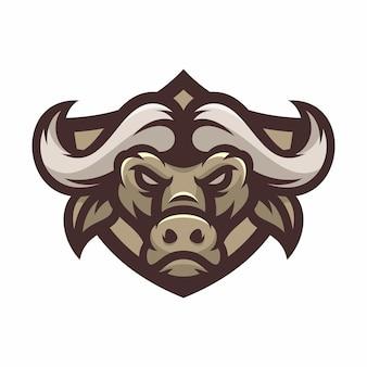 Buffalo - vectorembleem / pictogramillustratiemascotte