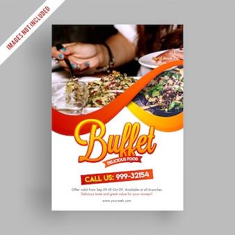 Buffetvlieger of menu-ontwerp met kortingsaanbieding.