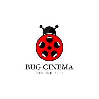 Bug movie logo sjabloonontwerp