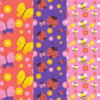 Bug patroon collectie concept