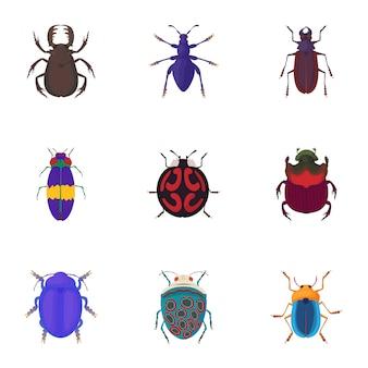 Bugs set, cartoon stijl