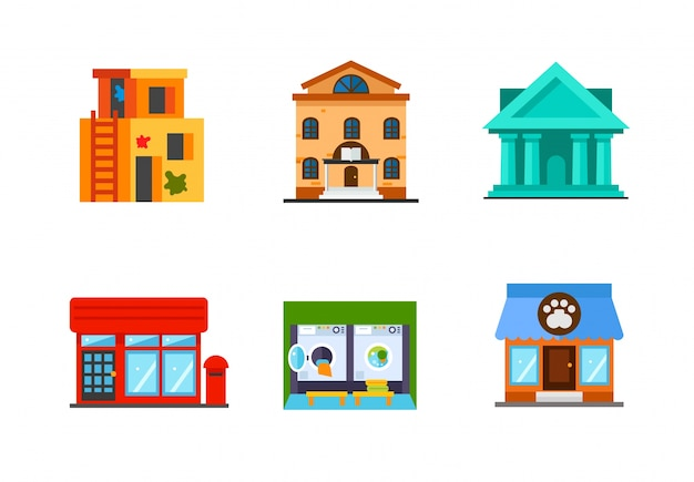 Building icon collection