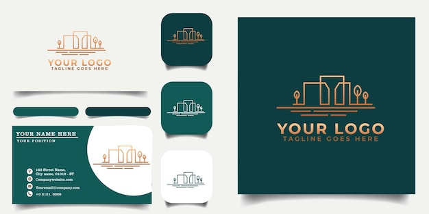 Building_logo_template_and_business_card_