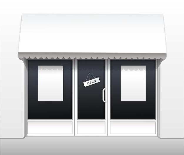 Buitenkant van restaurant cafe shop front