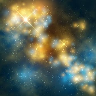 Buitenruimte vectorabstrac achtergrond met kosmische melkweg en sterren