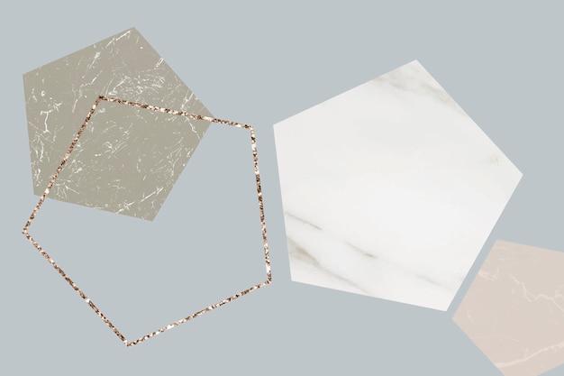 Buitensporige marmer gevormde achtergrond