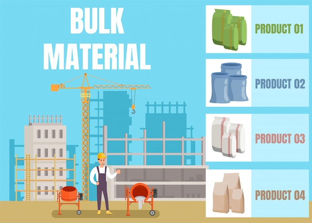 Bulkbouwmaterialen winkelreclame