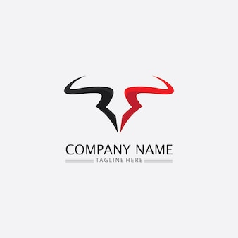 Bull buffelkop koe dier mascotte logo ontwerp vector voor sport hoorn buffel zoogdieren hoofd logo wild matador