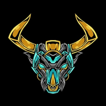 Bull head abstract ornament illustratie