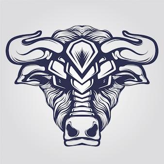Bull head lijntekeningen