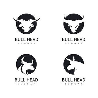 Bull hoofd logo icoon