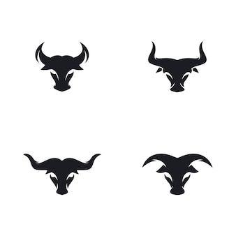 Bull hoofd logo vector pictogram