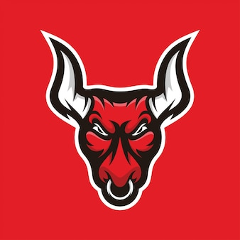 Bull illustratie mascotte logo