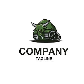 Bull tank logo vector