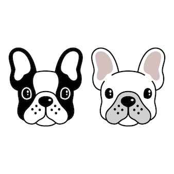 Bulldog gezicht cartoon